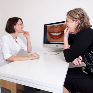 Dr Perdis during cosmetic consult with patient