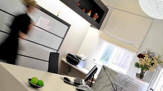Reception area at Melbourne St Dental Studio