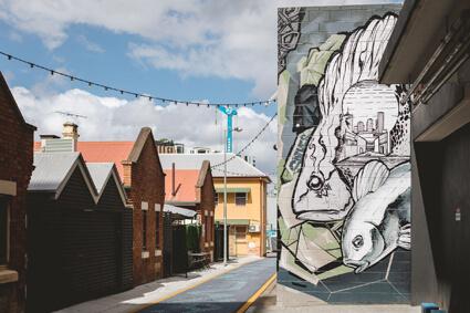 Street near Melbourne St Dental Studio