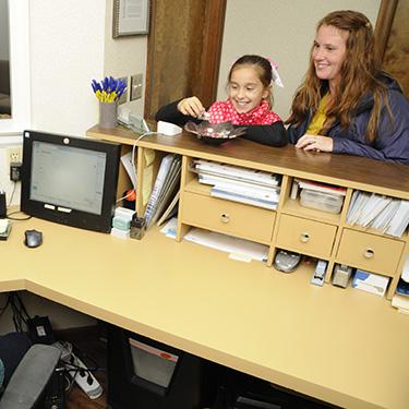 Patients at front desk