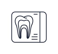 Illustration of dental xray