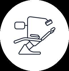 Illustration of dental chair