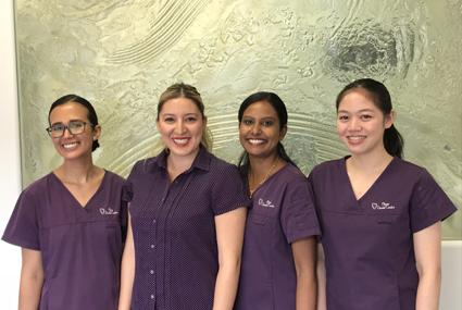 Support staff at Plaza Dental Centre