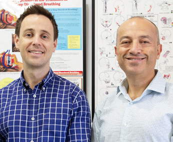 Dr Wally Hassoun (Dentist) and Dr Jonathan Lubetsky (Chiropractor)