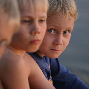 Young boy with blond hair