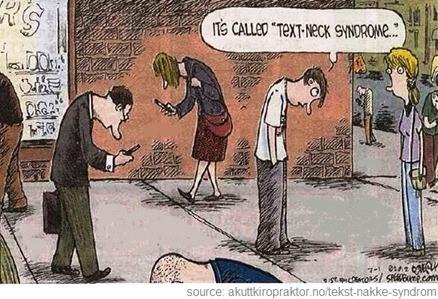 Text Neck Syndrome cartoon