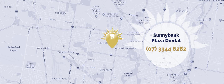 Map showing location of Sunnybank Plaza Dental
