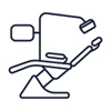 illustration of dentists chair