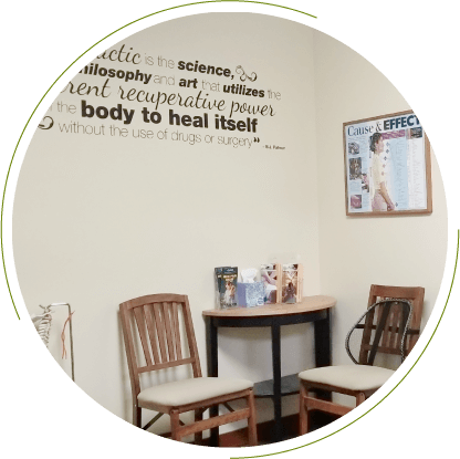 Waiting area at Belfair Chiropractic Center and Massage