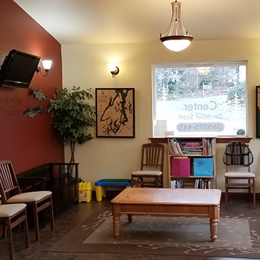Belfair Chiropractic Center and Massage waiting room