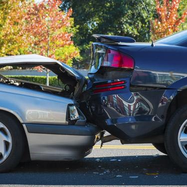Cars crashed together