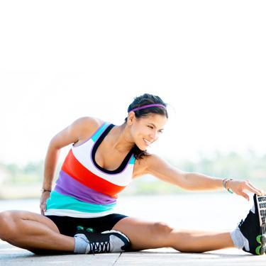 Runner stretching