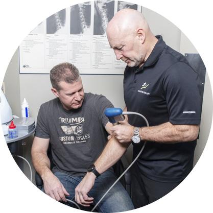 Dr. Davidson performing Laser on patient