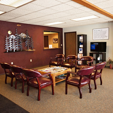 North Pines Chiropractic Waiting Room