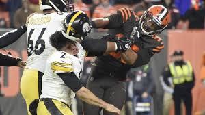 Garrett Browns hits Rudolph Steelers