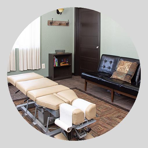 Chiropractic adjusting room