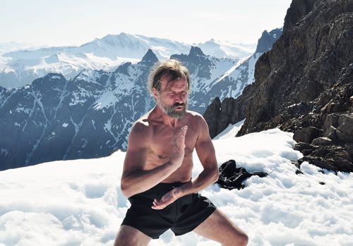 Wim Hof Horse Stance in the snow
