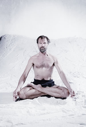 Wim Hof meditating
