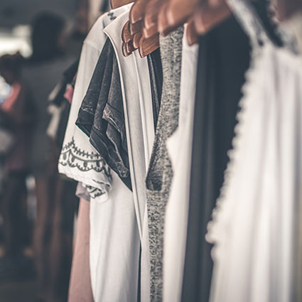 Clothes on hanger