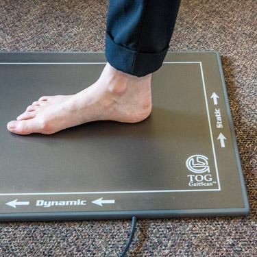 Mat for orthotics scan