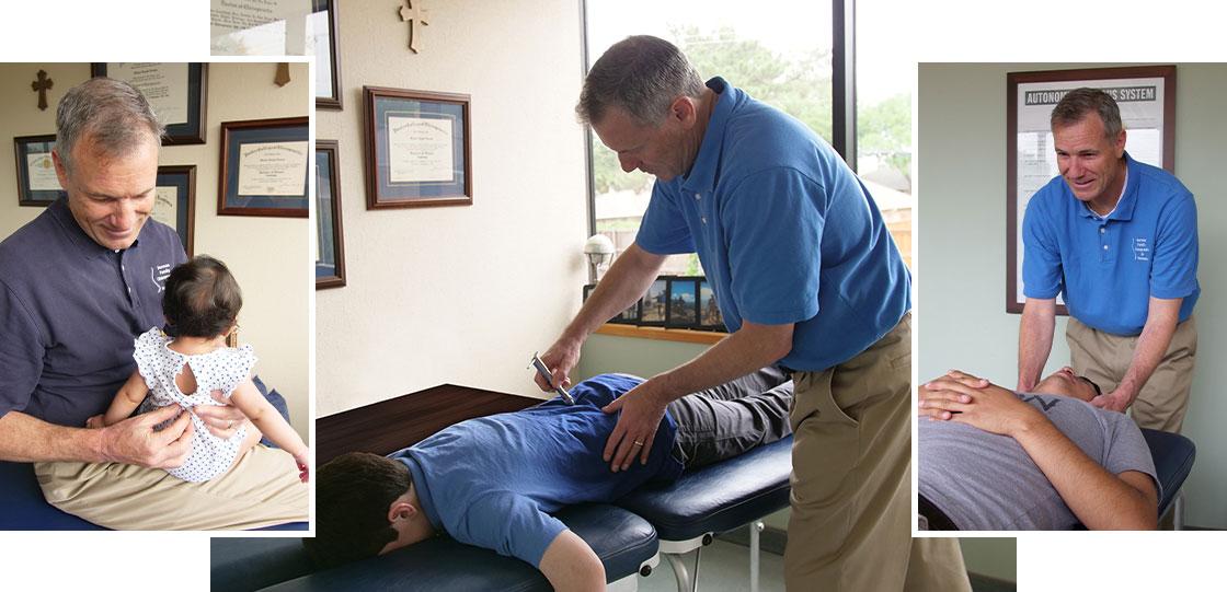 Dr. Norman performing adjustments