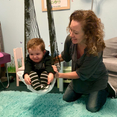 Dr Lisa with infant patient