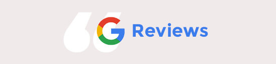 Google reviews banner
