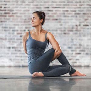 Woman in Yoga Stretch