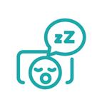 Illustration of person sleeping