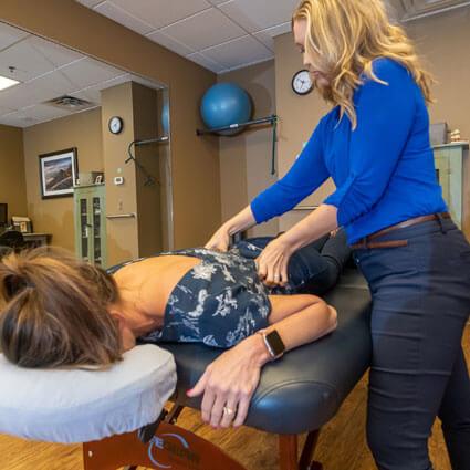 Massage on patient