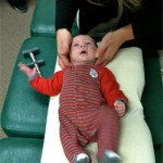 baby being adjusted