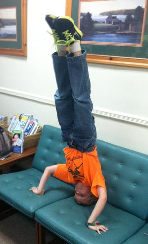 boy handstand
