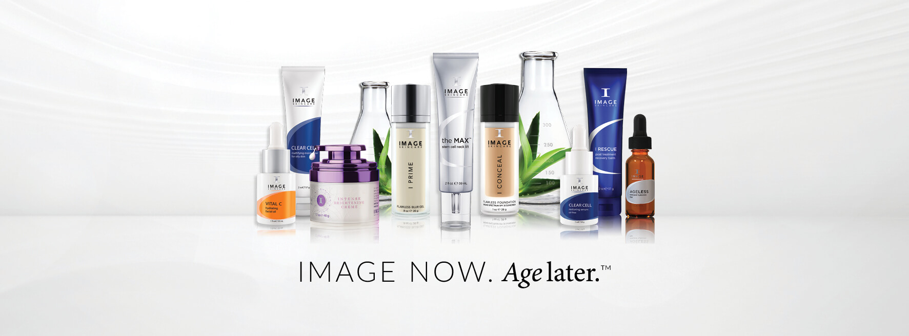 Image now age later products banner