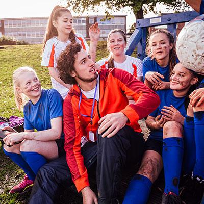Group of soccer girls