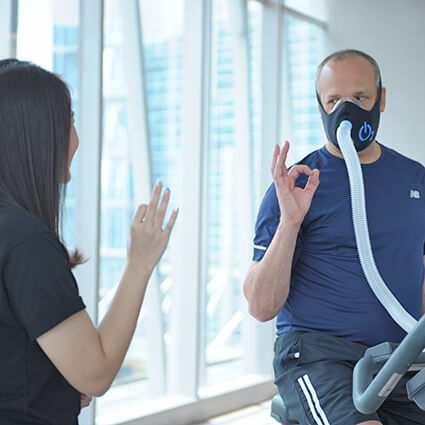 Man receiving oxygen therapy