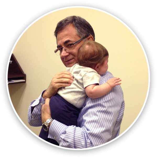 Dr. Longie with infant