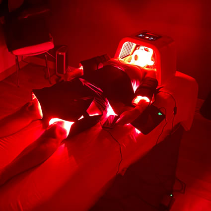 Red Light Therapy  session with patient
