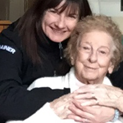 Dr. Christine with 99 year old patient