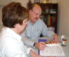 Dr. Hasemeier reviews the results with each patient.