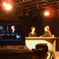 Dr. Hasemeier on the set of Getting Healthy