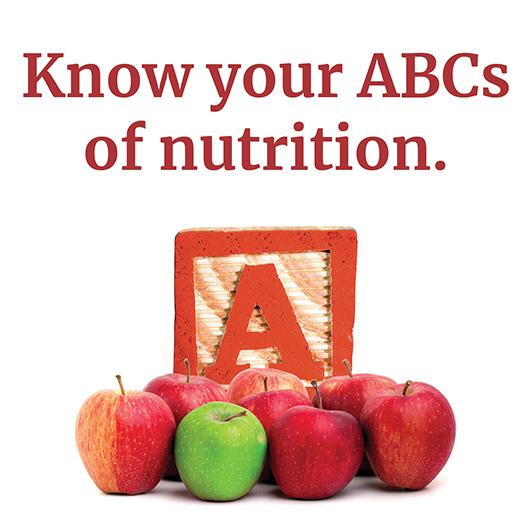 Apples by an alphabet block