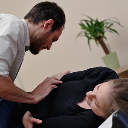 Patient getting side adjustment