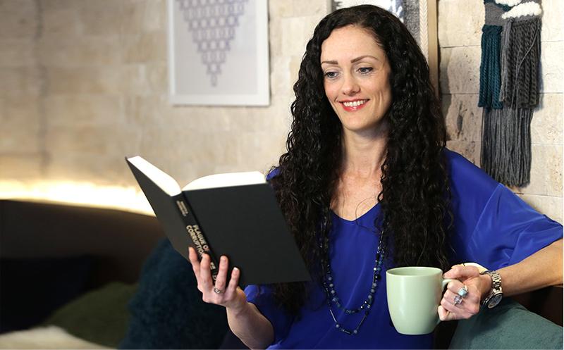 Gabrielle reading book