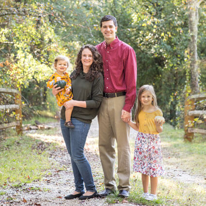 Dr. Hayes with his family