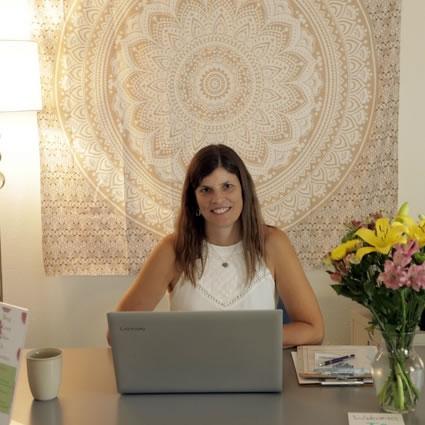 Dr. Stephanie at her desk