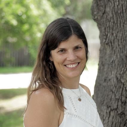 Dr. Stephanie by tree