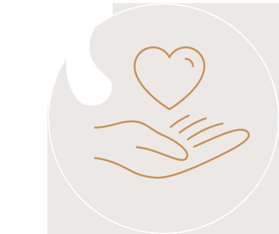 handing holding heart icon