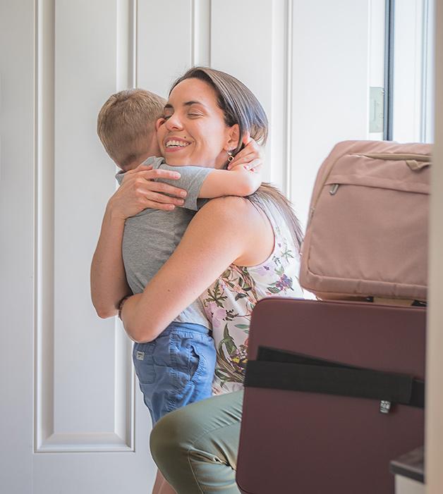 Dr Liz hugging child
