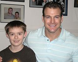 Brandon with Dr. Baker of Baker Chiropractic