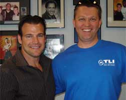 Dr. Baker with his patient Chad Weber